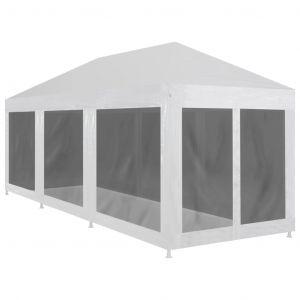 VidaXL Tente de réception avec 8 parois en maille 9 x 3 m