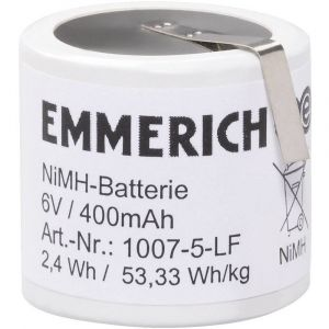Emmerich Pack daccus 5x accu spécial NiMH 251560 6 V 400 mAh