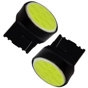 Aerzetix 2x ampoule 12V T20 7440 W21W W3x16D 12LED SMD COB blanc effet xénon