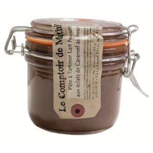 Le Comptoir de Mathilde Pâte à tartiner lait noisettes aux éclats de caramel au beurre salé (250g)