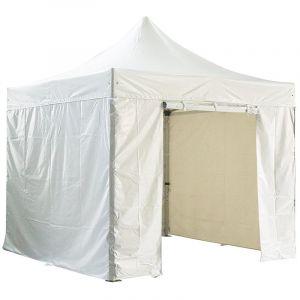 Barnum pliant 3x3m alu premium PRO 520gr/m² + Pack murs