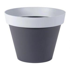 Eda Plastiques Style 76 L - Pot rond bicolore Ø60 x 47 cm