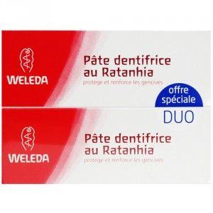 Weleda Duo Pâte dentifrice au Ratanhia 75 ml x 2 (150 ml)