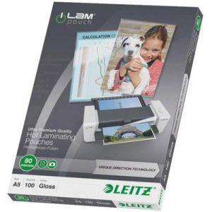 Leitz Pochettes de plastification A5 boite de 100 80 microns iLAM
