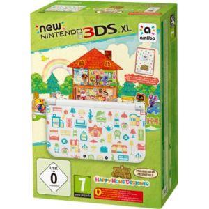 Nintendo New 3DS XL Blanche + Animal Crossing Happy Home Designer Préinstallé