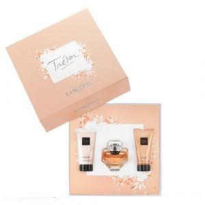 Lancôme Trésor - Coffret eau de parfum, lait pour le corps et gel douche
