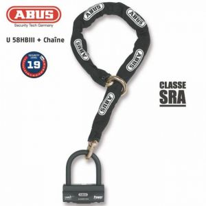Abus Antivol moto SRA Lasso 12KS120 + U Granit 58HBIII 100