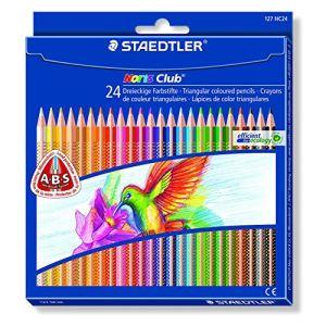 Staedtler 127-NC24 - 24 Crayons de couleur Noris Club triplus assortis