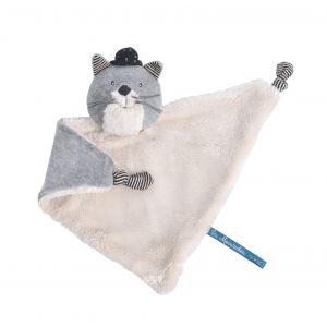 Moulin roty Doudou chat gris clair fernand les moustaches