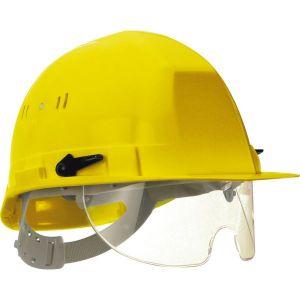 Taliaplast 564512 - Casque de chantier avec lunette escamotable jaune