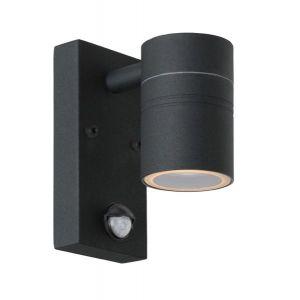 Lucide ARNE-1D noire - applique extérieure LED + détecteur
