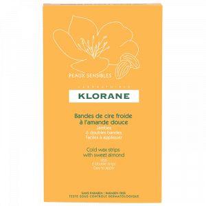 Klorane Bandes de cire froide - A l'amande douce - Jambes, 6 doubles bandes