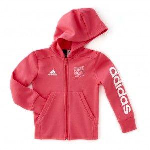 9470b9b83a93 Adidas Veste Capuche Fille Linear Olympique Lyonnais Rose - Taille 3 -  11-12A
