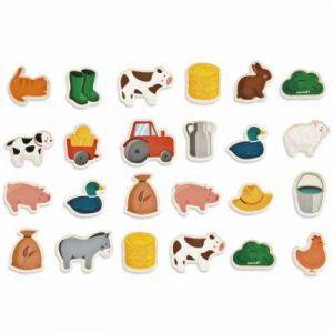 Janod Magnets en bois 24 pièces Ferme