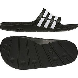 d63a1bb136616 Adidas Duramo Slide K - Sandales natation - Enfant - Black Running White  Black