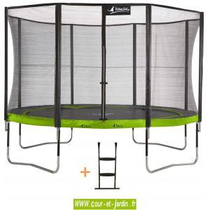 Kangui PUNCHI ALOE 430 - Trampoline avec filet et échelle