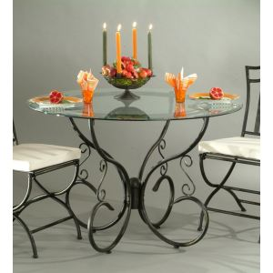 Miliboo Table à manger Florence en verre et acier