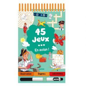 Editions Auzou Livre de jeux 45 jeux ... en avion !