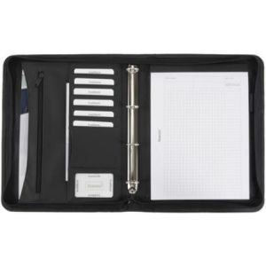 Alassio 30060 - Serviette classeur Office Set, noir, incl. calculatrice, répertoire, bloc-notes