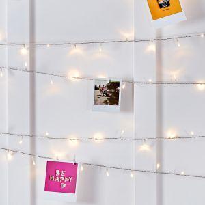Image de Lights4Fun Guirlande Lumineuse d%u2019Intérieur avec 200 LED Blanc Chaud sur Câble Transparent 16m par