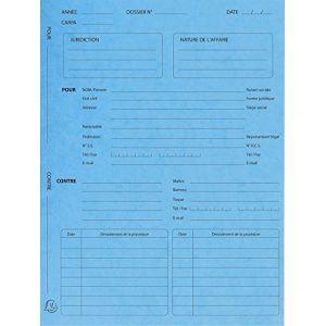 Exacompta 445102E - 25 dossiers de suivi de procédure carte 265 g/m² turquoise