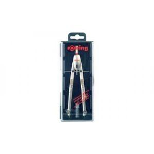 Rotring S0830390 - Compas à réglage rapide Silver Edition Centro
