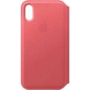 Apple Etui iPhone XS cuir Rose pivoine