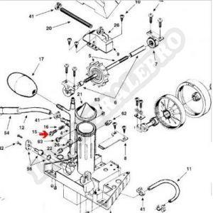 Procopi 1001014 - Vis de réglage de débit Polaris 180-280-360-380