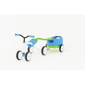 Chillafish Draisienne Combo Quadie + Trailie - 4 roues - Bleu