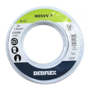 Debflex Cable souple h05vv-f 2x1.5mm² bobine 10m : 142321