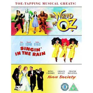Coffret Singin' In The Rain + Wizard of Oz + High Society