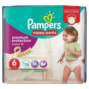 Image de Pampers Premium Active Fit Pants taille 6 (15 kg+) - 28 couches-culottes