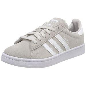 Adidas Campus, Sneakers Basses Mixte Enfant, Gris (Grey One/Footwear White/Footwear White), 28 EU