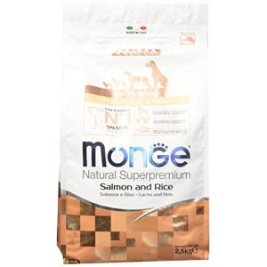 Monge All Breeds Puppy - Dry Dog Food with Salmon and Rice - 2.5 kg