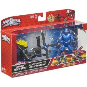 Bandai Power Rangers Ninja Steel Mega Morph Blue Ranger