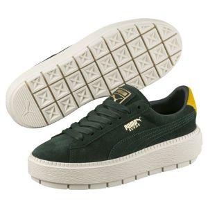 Puma PlatformTraceBold W Lo Sneaker vert jaune blanc vert jaune blanc 41 EU