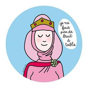 Petit Jour PC982J - Assiette à dessert Princesses Je ne fais pas de bruit à table