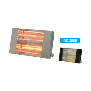 Sovelor Chauffage radiant électrique inox infrarouge halogène quartz 3000W IRC3000CI