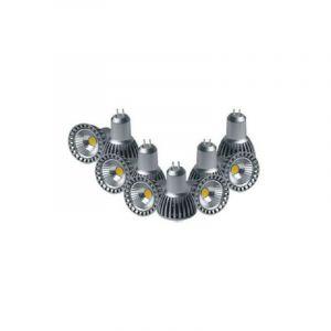 Silamp Ampoule LED COB GU5.3 / MR16 12V 4W 50° (Pack de 10) - Blanc Froid 6000K - 8000K -
