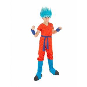 Chaks Déguisement Goku Saiyan Super Dragon ball Z enfant 5 à 6 ans (116 cm)