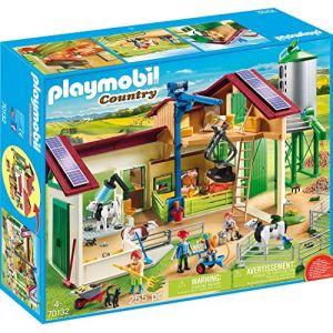 Playmobil 70132 - Grande Ferme Avec Silo Et Animaux