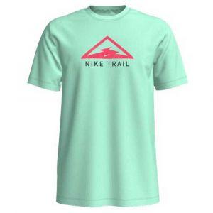 Nike T shirt manches courtes dri fit trail vert rose homme s