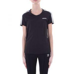 Adidas Tshirt E 3 Stripes Slim Originals Noir / Blanc - Taille XS