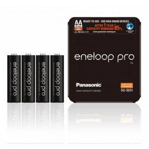 Panasonic 1x4 Eneloop Pro Mignon AA 2500 mAh Storage Case