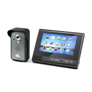 """Technaxx Visiophone TX-59 sans fil écran couleur TFT LCD 7"""""""" avec caméra intégrée"""