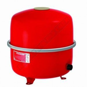 vase d-expansion à membrane fixe. raccordement sur le côté flexcon 35-80 réf. flexcon 50 diamètre : m 3-4 50 l 1.5 bar