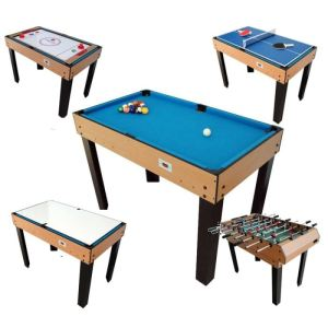 BCE Riley Table multi jeux 21 en 1 bois
