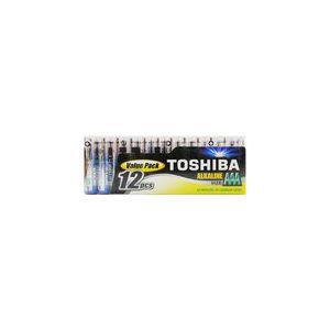 Toshiba Piles Alcalines AAA LR03 (x12)