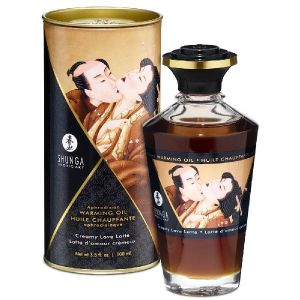 Shunga Erotic Art Huile Chauffante Aphrodisiaque Parfumée Shunga Latté