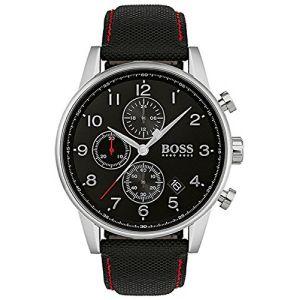 Hugo Boss 1513535 - Montre pour homme avec bracelet en cuir